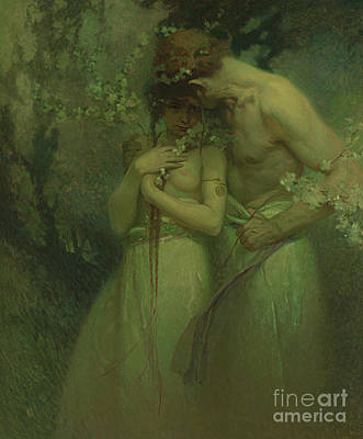 Painting - Spring Night by Alphonse Marie Mucha