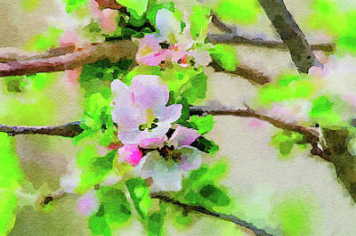 Painting - Spring On A Branch by Steven Santamour