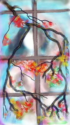 Digital Art - Spring On Her Window by Subrata Bose