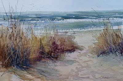 Painting - Spring On Lake Michigan by Sandra Strohschein
