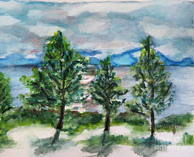 Painting - Spring On Lake Tahoe by Laurie Morgan