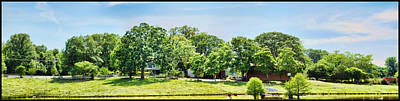 Photograph - Spring On The Farm - Panorama by Barry Jones