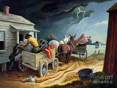 Spring Storm Painting - Spring On The Missouri by Thomas Hart Benton