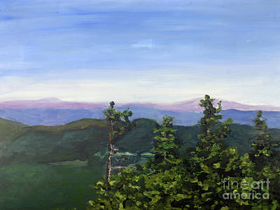 Painting - Spring On Top Of Jay Peak by Donna Walsh