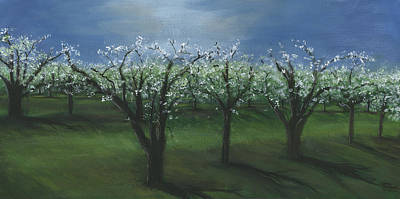 Painting - Spring Orchard by Sara Stevenson