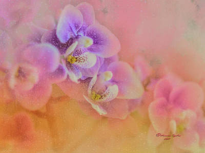 Floral Watercolor Photograph - Spring Orchids by Marvin Spates