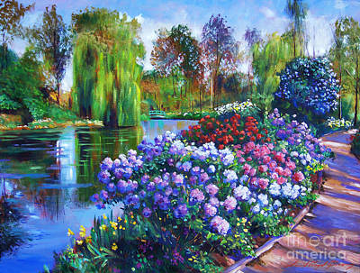 Pathways Painting - Spring Park by David Lloyd Glover
