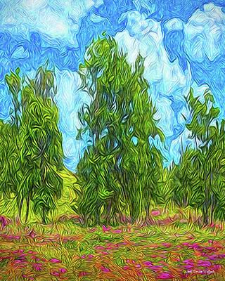Digital Art - Spring Park Morning by Joel Bruce Wallach