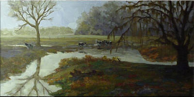 Painting - Spring Pasture by Nora Sallows