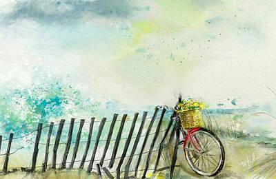 Bicycle Ride. Mayflower Storm. Art Print