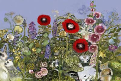 Hollyhock Digital Art - Spring Peepers by Suzy Buckles
