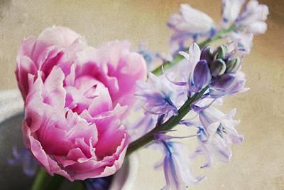 Purple Flowers Digital Art - Spring Pickings by Cathie Tyler