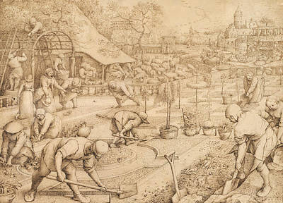 Drawing - Spring by Pieter Bruegel the Elder