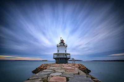 Spring Point Ledge Light Station Art Print by Rick Berk