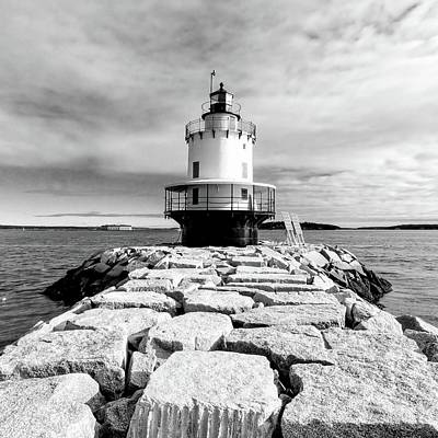 Photograph - Spring Point Ledge Lighthouse - Square by Jenny Hudson