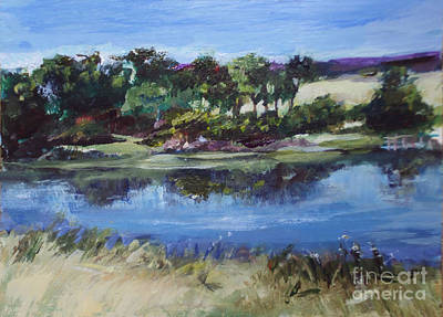 Painting - Spring Pond  by Diane Ursin
