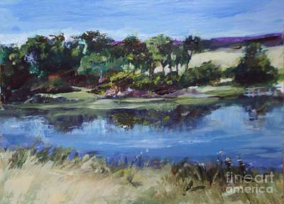 Painting - Spring Pond  by Diane Ursin