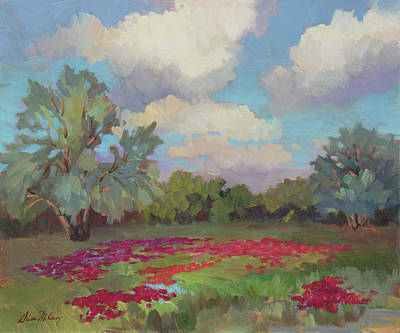 Art Print featuring the painting Spring Poppies by Diane McClary