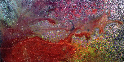 Abstract Art Painting - Spring Rain - Abstract Floral Landscape Art Painting by Modern Art Prints