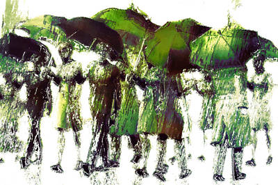 Rain Digital Art - Spring Rain by Carol and Mike Werner