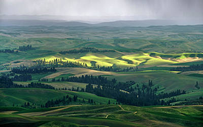 Spring Rain Falls On The Palouse Art Print by Jerry McCollum