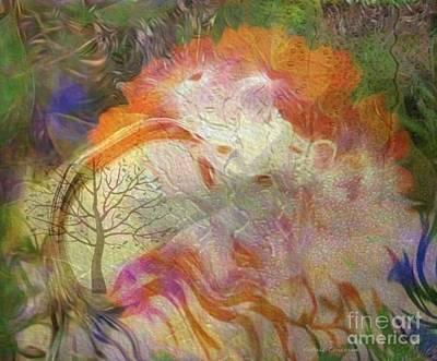 Digital Art - Spring Rain by Kathie Chicoine