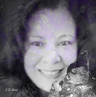 Spring Bulbs Mixed Media - Spring Raindrop Maiden by Kimberlee Baxter
