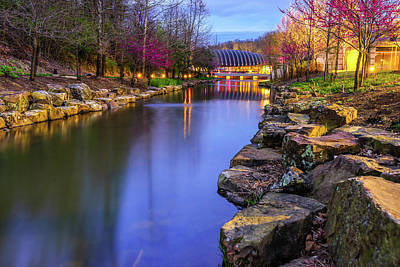 Photograph - Spring Reflections At Crystal Bridges - Northwest Arkansas by Gregory Ballos