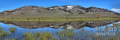 Photograph - Spring Reflections In Slough Creek Panorama by Adam Jewell