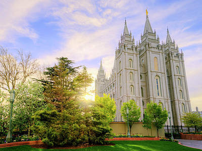 Utah Temple Photograph - Spring Rest by Chad Dutson