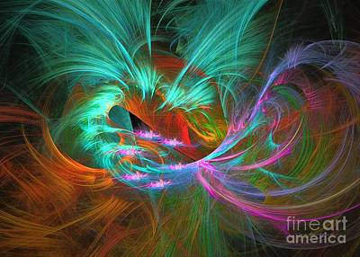 Digital Art - Spring Riot - Abstract Art by Sipo Liimatainen