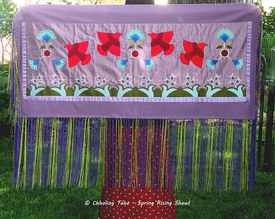 Tapestry - Textile - Spring Rising by Chholing Taha