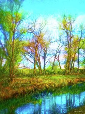 Digital Art - Spring River Rambling by Joel Bruce Wallach
