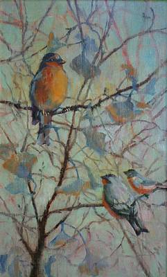 Painting - Spring Robin And Company by Donna Shortt