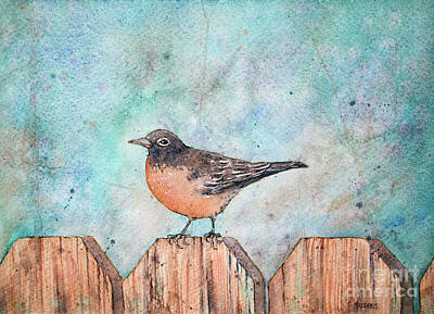 Painting - Spring Robin by Rebecca Davis