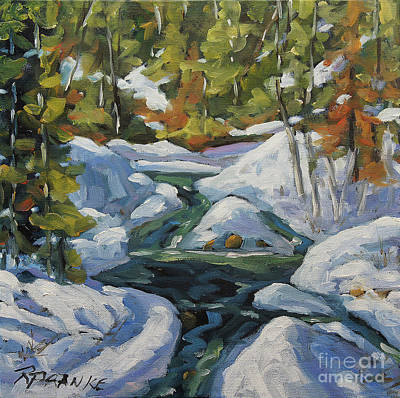 Quebec Painting - Spring Run Off by Richard T Pranke