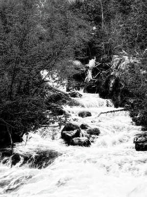 Photograph - Spring Runoff Photo Bw by David King