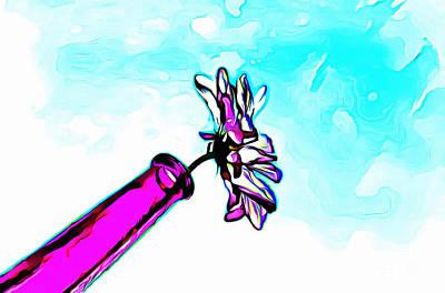 Playful Digital Art - Spring Sentiment by Krissy Katsimbras