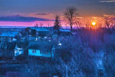 Photograph - Spring Setting Sun And A Village by John Williams