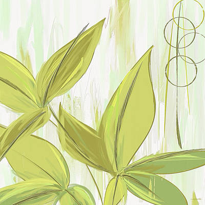 Spring Shades - Muted Green Art Art Print