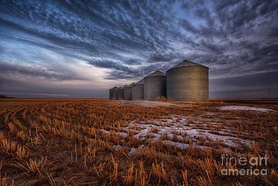 Saskatchewan Photograph - Spring Silos by Ian McGregor