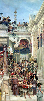 Historical Buildings Painting - Spring by Sir Lawrence Alma-Tadema