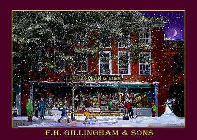 Photograph - Spring Snow At Gillinghams In Woodstock by Nancy Griswold