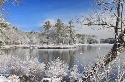 Photograph - Spring Snow At Harvard Pond by John Burk