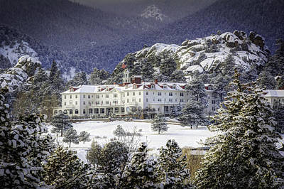 Photograph - Spring Snow At The Stanley by G Wigler