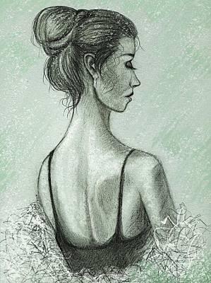 Hairstyle Mixed Media - Spring Snow Devotchka by Philip Harvey