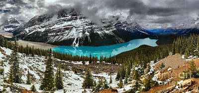 Photograph - Spring Snow Dusting At Peyto by Adam Jewell