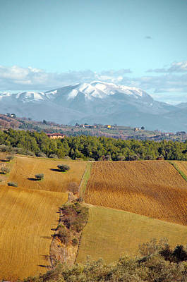 Photograph - Spring Snow In Umbria by Francois Dumas