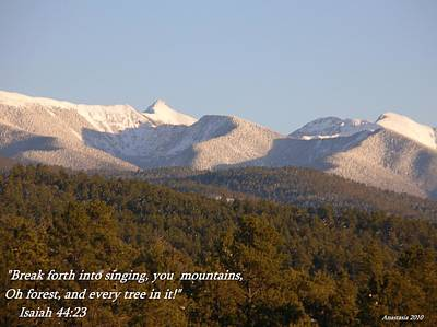 Art Print featuring the photograph Spring Snow On The Sangre De Cristos Truchas Peaks by Anastasia Savage Ealy
