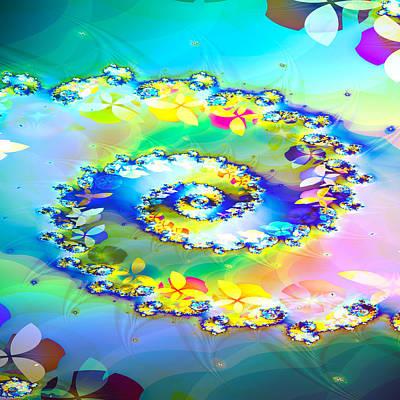 Fractal Geometry Digital Art - Spring Spiral by Sharon Lisa Clarke